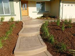 Backyard Stamped Concrete Ideas Front Yard Concrete Ideas Rdcny