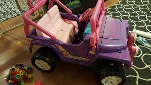 pink toy jeep check out my jurassic park power wheels jeep i made for my son a