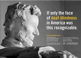 How Do Deaf Blind Communicate Deaf Blind Awareness Poster Design Campaign Lincoln Without Eyes