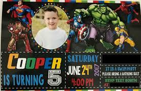 avengers invites the robyn u0027s nest cooper u0027s 5th avenger u0027s party