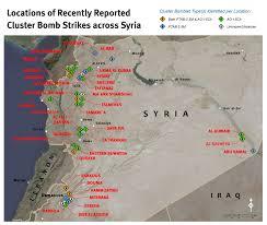 Isis Syria Map by Isis Using Cluster Ammunition In Syria Hrw Al Arabiya English