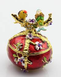 aliexpress com buy vintage hand painted love birds faberge egg