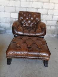 Leather Armchair Ebay Beautiful Antique Leather Wing Chair And Book Stand La Maison