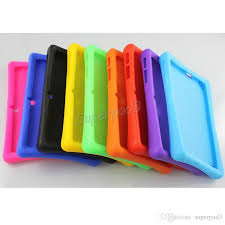 android tablet cases thick soft silicone rubber protective back cover for q88 7