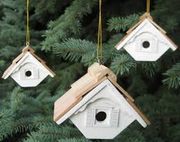duncraft wren birdhouse ornament set of 3