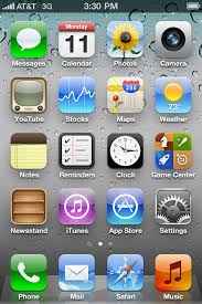 Iphone 5 Symbols On Top Bar Iphone 4 Ios 5 App Icons Download Free Png Web Icons Iconsparadise