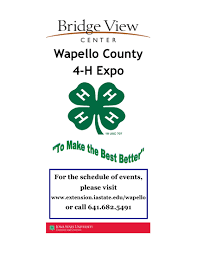 wapello county 4 h expo bridge view center