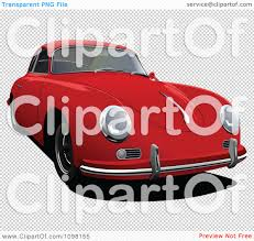red porsche png clipart red porsche 356 car front view royalty free vector