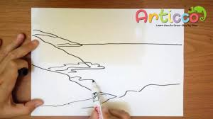how to draw the ocean step by step for kids youtube