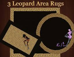 Animal Area Rugs Second Life Marketplace Animal Print 3 Leopard Area Rugs Box