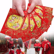 new year pocket 6pcs fu festival envelope lucky money bag new