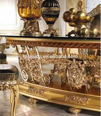 gold dining table set new arrival royal oval 4 meters dining table antique gold plated