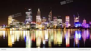 glitter wallpaper perth time lapse of perth city skyline lights at night stock video footage