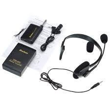 tour guide headset system 2pcs 30m portable wireless headset microphone receiver
