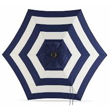 Market Patio Umbrella Shop Garden Treasures Navy Stripe Market Patio Umbrella Common