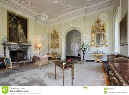 stately home interiors drawing room manor house editorial photo