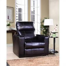 Black Leather Recliner Chair Pri Larson Black Leather Recliner 1985 178 112 The Home Depot