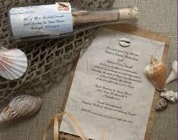 wedding invitations in a bottle sos message wedding invitations