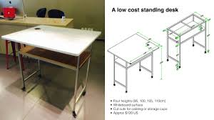 build a low cost standing desk