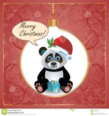 panda christmas card royalty free stock image image 33042976