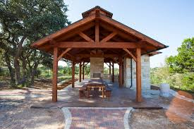 pavilion patio furniture backyard wooden pavilions home outdoor decoration