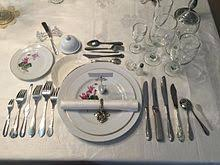 Fancy Place Setting Full Course Dinner Wikipedia