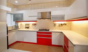 Modular Kitchen Interiors Modular Kitchen Square Edge Glossy Finishrak Kitchens And
