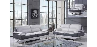 Grey Leather Sofa And Loveseat U7330 Lgr Dgr Grey Leather Sofa Set 3pc