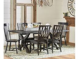 magnolia home dining room sawbuck dining table setting 2010801db