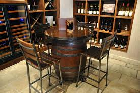 whiskey barrel bar table barrel pub table goodtuesday co