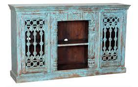 home trends u0026 design jaipur jali turquoise blue cabinet 71