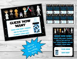 wars baby shower ideas wars baby shower guess how many starwars printable