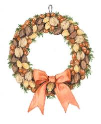 Christmas Nuts Holiday Decorations Homemade Wreath Nuts Holiday Crafts The Old
