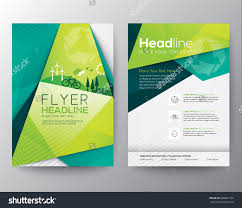 design flyer abstract triangle brochure flyer design vector template in a4 size