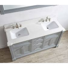 63 inch gray finish double sink bathroom vanity cabinet with mirror