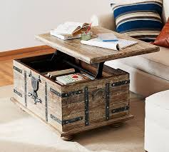 Coffee Table Trunks Kaplan Lift Trunk Pottery Barn