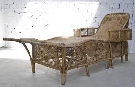 meubles en rotin méridienne chaise longe rotin osier ancienne 1900 1920