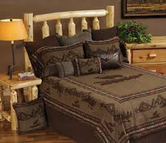 Western Bedding Wooded River Rocky Mountain Elk Bedding Collection Luxury