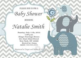 elephant baby shower invitations templates xyz