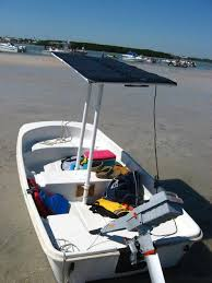 dinghy with torqeedo 1003 and torqeedo flexible solar panel