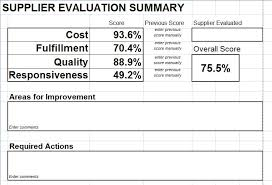 Vendor Management Excel Template Supplier Evaluation Scorecard For Microsoft Excel