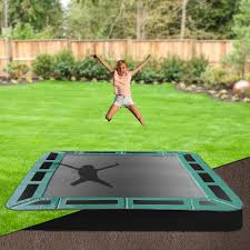 8 x 11 rectangle inground trampoline in ground trampolines