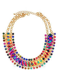 necklace golden images Perfectly multi color jaysa golden necklace with vibrant laces jpg