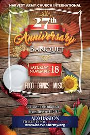 27th anniversary thanksgiving day banquet harvest army world revival