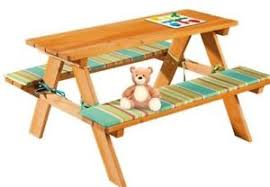 childrens wooden picnic table benches florabest children s wooden garden picnic table bench ebay