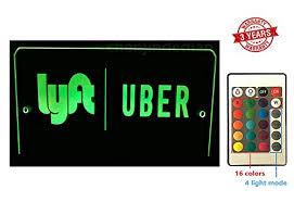 lyft light up beacon uber lyft led light sign logo sticker decal glow accessories remote