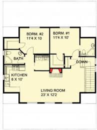 Garage Floor Plans With Living Quarters Garage Apartment Plan 30032 Total Living Area 887 Sq Ft 2
