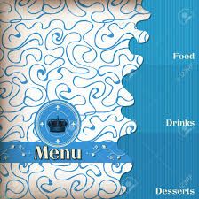 luxury template for a restaurant menu with crown royalty free