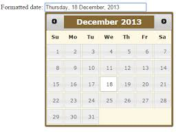 format date javascript jquery jquery ui datepicker calendar with 9 exles