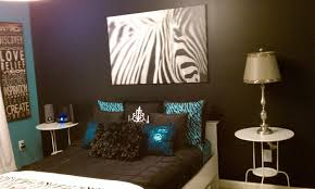 zebra print turquoise and brown bedroom ideas home design
